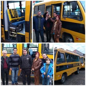 Prefeitura de Lavras do Sul  adquire ônibus com acessibilidade