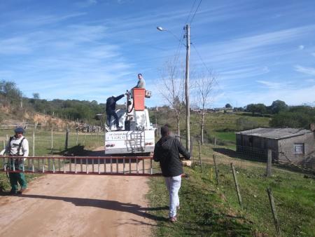 Iluminação pública na localidade do Rincão dos Biaggi